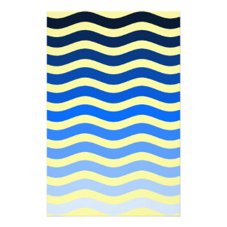 Blue Waves Scrapbooking Pages Stationery