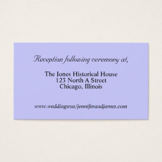 Blue Wedding enclosure cards