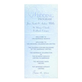 Blue wedding program rack cards