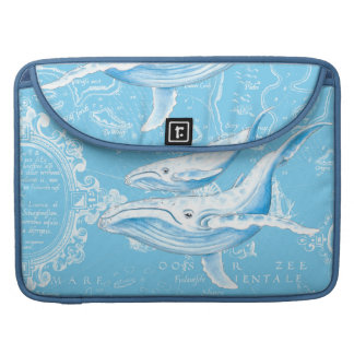 Blue Whales Family Sleeve For MacBooks