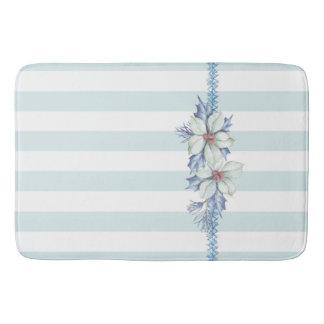 Blue & White Christmas Bath Mat Bath Mats