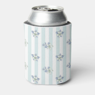 Blue & White Christmas Can Cooler