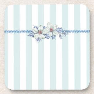 Blue & White Christmas Coaster Set