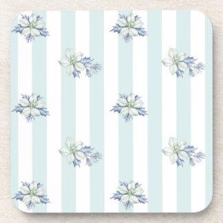 Blue & white Christmas Coasters Set