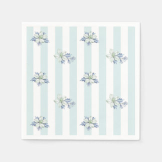 Blue & White Christmas Coctail Napkins Paper Napkins