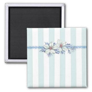 Blue & White Christmas Magnet