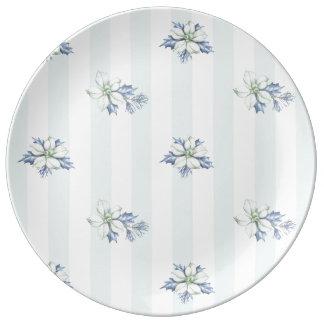 Blue & White Christmas Porcelain Plate
