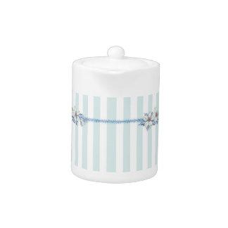Blue & White Christmas Tea Pot
