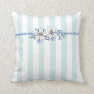 Blue & White Christmas Throw Pillow