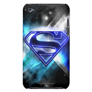 Blue-White Crystal Superman Logo iPod Touch Case