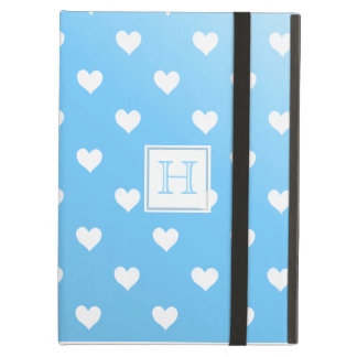 Blue & White Hearts :Powis iCase iPad Case