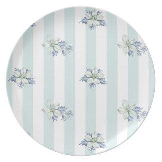 Blue & White Malemine Christmas Plate