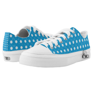 Blue White Nail Head Low Top Sneakers