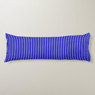 Blue White Pinstripe Body Cushion