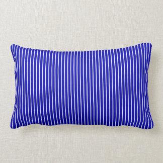 Blue White Pinstripe Throw Cushion