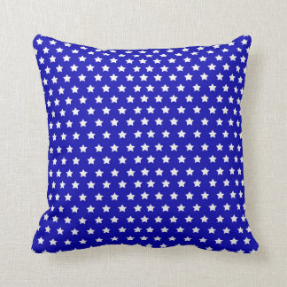 Blue White Stars 4th July Independence Day Cushion