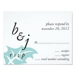 Blue White Winter Wedding RSVP Card 11 Cm X 14 Cm Invitation Card