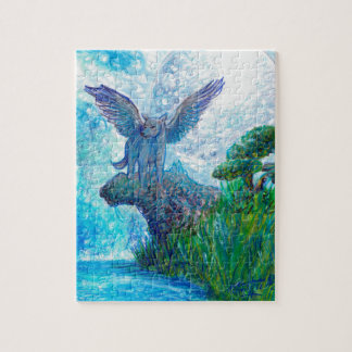 Blue Winged Wolf Wolves Canine Dog Doggy Lupin Jigsaw Puzzle