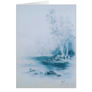 """Blue Winter"" 5x7"" Greeting Card"
