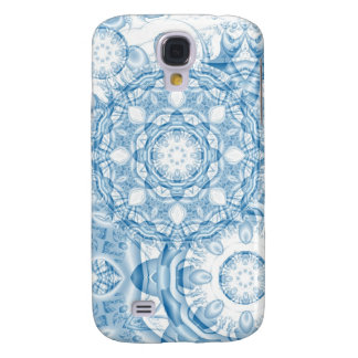 Blue Winter Impression, abstract Galaxy S4 Case