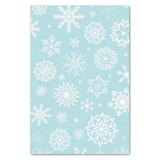 Blue Winter Snowflake Christmas Holidays Tissue Paper