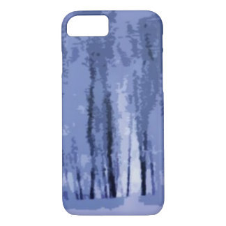 Blue Winter Woods Abstract iPhone 7 Case
