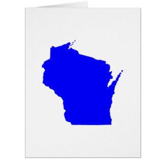 Blue Wisconsin Card