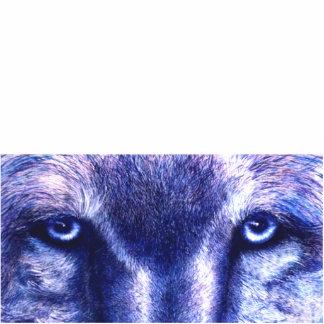 Blue Wolf Eyes, Photo Sculpture