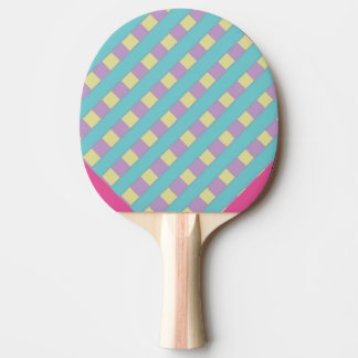 Blue Yellow and Purple Lattice Ping Pong Paddle