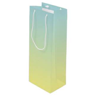 Blue & Yellow Ombre Wine Gift Bag
