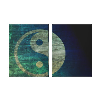 Blue Yin Yang Canvas Canvas Print