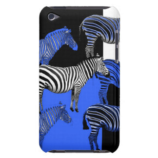 Blue Zebra Digital Art Barely There iPod Covers