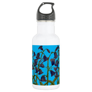 Bluebell Art on Water Bottle