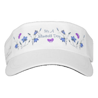 Bluebell Wildflowers and Rosy Butterflies Visor