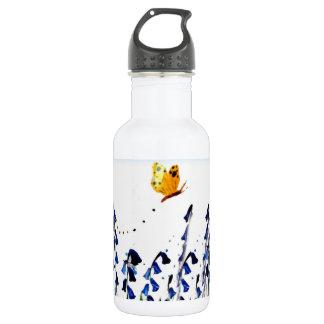Bluebells butterfly floral art 532 ml water bottle