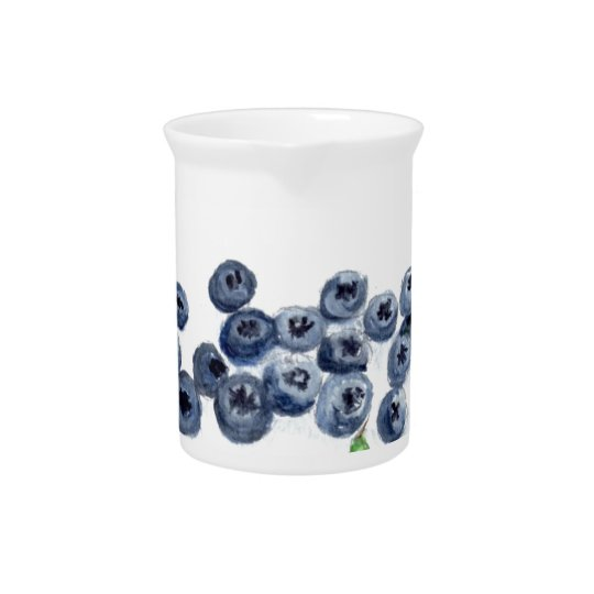 Blueberries fruits kitchen decor pitcher