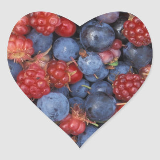 Blueberry Blue Colorful Fruit Food Sweet Destiny Heart Sticker