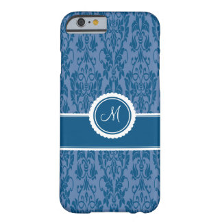 Blueberry Monogrammed Damask iPhone 6 case