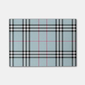 BlueBerry Plaid PostIt Notes