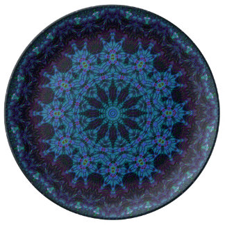 Blueberry Plum Mandala Plate