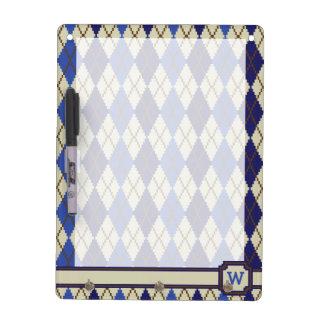 Blueberry Scone Argyle Dry Erase Board