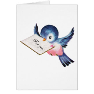 Bluebird of Happiness Graduation Card