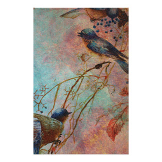 BLUEBIRDS IN AUTUMN STATIONERY