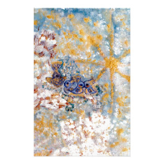 Bluebirds in the Snow Designer Art Stationery
