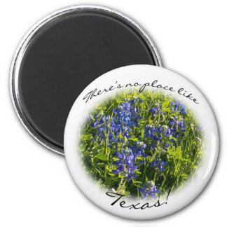 "Bluebonnet ""There's No Place Like Texas"" Magnet"