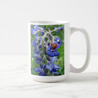 Bluebonnet with Ladybug Coffee Mug