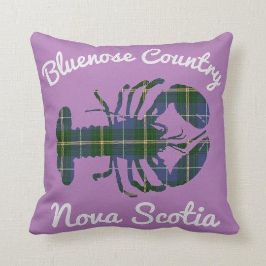 Bluenose Country N.S. Tartan Lobster purple Cushion