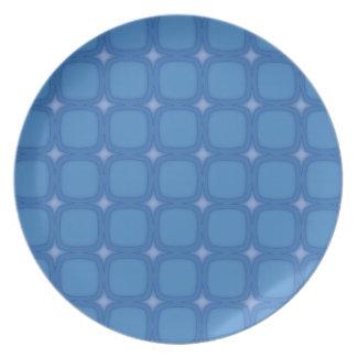 Bluesville Retro Squares Party Plates