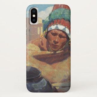 Blumenschein, Taos Native American Indian Portrait iPhone X Case