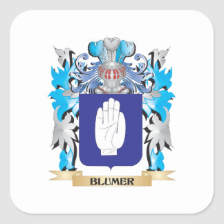 Blumer Coat of Arms Square Stickers